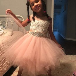 $enCountryForm.capitalKeyWord Australia - Fluffy Dress For Girls with Sash Lace Appliques Custom Made Ball Gown First Communion Dresses for Girls Elegant Hot Sale