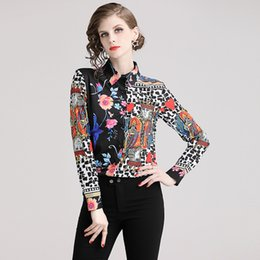 $enCountryForm.capitalKeyWord Australia - New Style Runway Women's Vintage Casual Floral Print Blouses Shirts Spring Fall Office Lady Sexy Slim Elegant Celebrity Luxury Shirts Tops