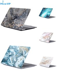 retina macbook Australia - Digital Print Marble Rubberized Hard Case For 2018 New Macbook Air Pro 11.6 12 13.3 Air Retina Laptop Full Protective Cover Retail package