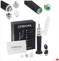 dab pen rig 2019 - CPENAIL 1100mAh Portable Wax Pen Dab Rig Nail Pot Ceramic Quartz Electric H Nail GR2 pure Ti e cigarette Vaporizer Vapor
