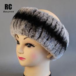 $enCountryForm.capitalKeyWord Australia - [Rancyword] Women's Headband Winter Real Rex Rabbit Fur Headbands For Girls Natural Fur Neck Scarf Hair Neckwarme New RC1403