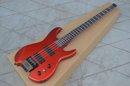 Big Basses NZ - free shipping new Big John headless electric bass guitar in red with basswood body made in China BJF-63