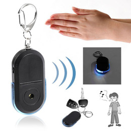 Chinese  Anti-Lost Alarm Key Finder Wireless Whistle LED Light Locator Finder Keychain Old People Child Anti-Lost Alarm Key manufacturers