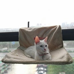 Discount kitty cat bedding - Cat Bed Removable Window Sill Cat Radiator Bed Hammock Perch Seat Lounge Pet Kitty Hanging Cosy Hammock Mount Pet Seat