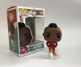 action figures sport Australia - Funko Pop Sadio Mane 10# Q Vervison Football Sports Anime Figure Action Figure Collection Model Hot Toys Hot Sale New Arrvial Hot Sale Xmas