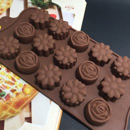 $enCountryForm.capitalKeyWord Australia - 15 Cavity 3 Different Flower Shapes Chocolate Mold Silicone Lovely Flower Rose Chocolate Cake Cookie Baking Mold Ice Tray Mould