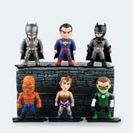 Batman Figure Wholesale Australia - Hot 6pcs lot 9.5cm pvc anime figure Justice League super man batman action figure model toys brinquedos