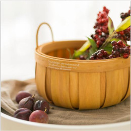 $enCountryForm.capitalKeyWord Australia - French Country Fruit Basket Picnic basket Pumpkin-shaped wood chips basket Mori Dessert Table Decorative Ornaments