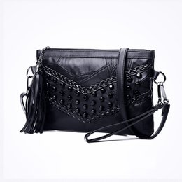 Genuine Leather Crossbody Handbags Wholesale Australia - New Brand Rivets Casual Crossbody Bag Fashion Genuine Leather Women Shoulder Bag Designer Handbags Ladies Hand Spring Summer