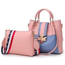 $enCountryForm.capitalKeyWord Australia - 2018 Fashion Women Bag Sets Bee Pearl Female Luxury Handbags Designer Big Ladies Shoulder Bag Famous Brands Leather Casual Tote w079