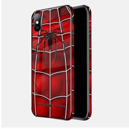$enCountryForm.capitalKeyWord Australia - Explosion creative Marvel cell phone shell glass painting for Marvel Movie Avengers 4 cellphone shell Apple 7 8 4.7 XR XS Max6.5Custom card