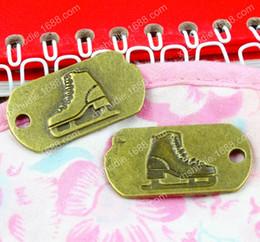 Make Icing Flowers Australia - 30pcs 34*18MM Antique bronze tibetan alloy Ice skates charms for bracelet vintage metal pendant for earring handmade DIY jewelry making