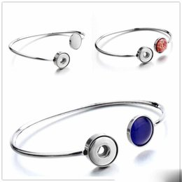 $enCountryForm.capitalKeyWord NZ - Noosa New Snap Bracelet Jewelry 12mm Stainless Steel Ginger Snap buttons Cuff Bangle fit DIY 12mm Snaps Wholesale