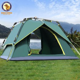 big tents camping NZ - Outdoor 3-4 person double layer automatic tent waterproof anti-UV big space camping tent