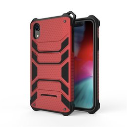 Navy Blue Iphone Cases UK - New For Iphone 6S 7 8 X XR XS MAX Phone Case 2 in 1 Shockproof Armor Hard Frame TPU+PC Gel Hybrid Spider-Man Phone Case For Samsung S9 S10e