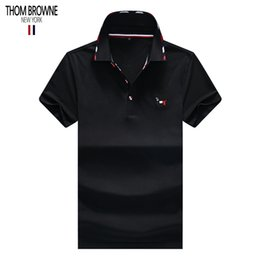 Wholesale THOM polo BROWNE designer shirt mens polos brand polo American famous designer shirts classic embroidery polos quality tee Counter