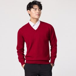 $enCountryForm.capitalKeyWord UK - Man Pullovers Winter New Fashion Vneck Sweater Cashmere And Wool Knitted Jumpers Men Woolen Clothes Hot Sale Standard Male Tops T2190612