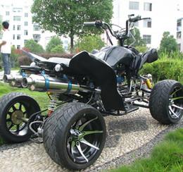 Venta al por mayor de ATV dinosaurio grande de playa de cuatro ruedas todoterreno motocicleta todo terreno doble tubo de escape de aluminio ATV ATV Entertainment kart