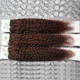 """$enCountryForm.capitalKeyWord NZ - 12"""" 14""""16""""18""""20""""22""""24"""" Micro Ring Human Hair Extensions kinky curly 300g afro kinky curly Loop Micro Ring Keratin Russian Hair1g s 300pieces"""