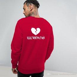break love 2019 - Rocker Fleece Men O-neck Hoodies Teenager Rapper xxxtentacion Broken Love Back Print Sweatshirts discount break love