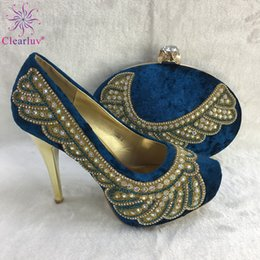 Discount shoe purse matching - Italian Shoes with Matching Bags High Quality Luxury Shoe Women Designers Nigerian Women Party Pumps with Purse High Hee