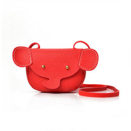 Gifts For Infant Girls Australia - 1Pcs 2018 New Cute Kids Animal Pattern Coin Purse Elephant Shaped Messenger Bags for Children Birthday Gifts for Infant Girls