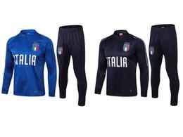 cbbccdaef 2018 World Cup Italy soccer Jersey TRAINING SUIT De Rossi Bonucci Verratti Chiellini  INSIGNE Belotti Football Uniform TRACKSUIT SPORTSWEAR