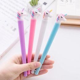 $enCountryForm.capitalKeyWord Australia - Unicorn 1 pcs Pens For Kids Girls Gifts School Writing Supplies Stationery Kawaii Multi Shape Unicorn Gel Pens