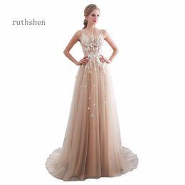 e8f83ea85 wholesale Vestidos De Gala Largos Sleeveless Prom Dresses Long Floor Length  Party Gowns Elegant Robes De Soiree Formal Prom