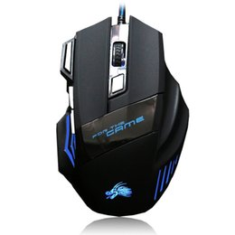button game mouse 2019 - High Quality Professional Wired Gaming Mouse 7 Button 5500 DPI LED Optical USB Wired Computer Game Mouse Mice Cable disc