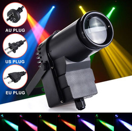 30W RGBW LED Stage Lighting Pinspot Beam Spotlight Professional DJ DISCO Party KTV Backlight Stage Light 360-degree lighting MYY on Sale