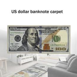 Modern Diy Decor NZ - One Hundred Dollar 100 Bill Print Non-Slip Area Rug Modern Home Decor Carpet
