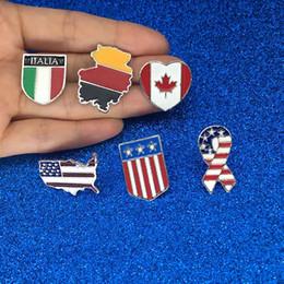 $enCountryForm.capitalKeyWord Australia - National flags Enamel Pin Canadian American German Italian Flag Brooch Pin Button Hat Bag Clothes Collar Pin Badge Jewelry Gift drop ship
