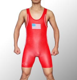 Singlet Suits Australia - USA Custom Mens Wrestling Singlet Professional Weight Lifting Gym Outfit Man One piece SwimwearRowing suit