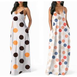 66acae6d81 Mujeres Dot Vestidos de honda Diseñador de las mujeres Vestido de punto de  onda Patrón Maxi Vestidos Impreso Longuette Longuette Verano Falda 43