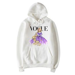 Discount kawaii style clothing - punk style kawaii letter VOGUE hoodies women sweatshirt Harajuku pullovers kpop Hoodie femme Stranger Things tops clothe