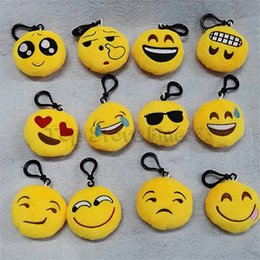 New chat online shopping - EMOJI Plush Phone Pendant Models Different Styles Plush Keychain Chat Funny Emoticon Mode Mobile phone Message EMOJI Toy LS70194