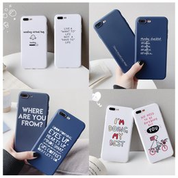$enCountryForm.capitalKeyWord NZ - 1pc For iPhone7plus simple XS Europe and America English iPhone x mobile phone shell anti-fall soft shell