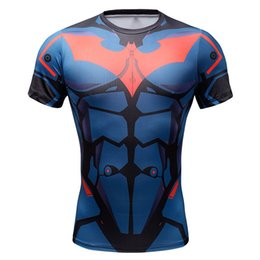 $enCountryForm.capitalKeyWord Australia - Summer Marvel Superhero Superman Captain America Batman Fitness Clothing T-Shirt Men 3D Funny Men T Shirt Compression Shirt Tops