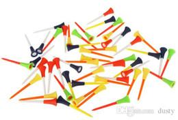 Çok Renkli 50 Adet / torba Plastik Kauçuk Yastık En Golf Tees Golf Aksesuarları 83mm Dayanıklı Golf Eğitim Yardımları