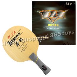 $enCountryForm.capitalKeyWord NZ - Original Pro Table Tennis PingPong Combo Racket KTL Instinct Blade Shakehand with 2x RITC 729 General Rubbers Long shakehand FL
