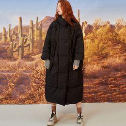 Jackets ladies winter wear online shopping - Winter Women Oversize Cotton Padded Jacket Female Turtleneck Solid Color Long Parka Snow Wear Outerwear Ladies Street Overcoats