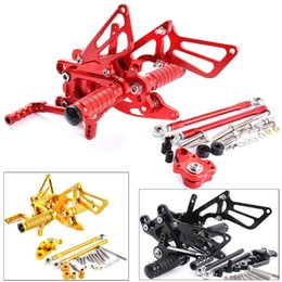 motorcycle rear foot pegs 2020 - For CBR 600 CBR600 RR CBR600RR 2007 2008 CNC Aluminum Motorcycle Adjustable Rearset Rear Set Foot Pegs Pedals Footrest c