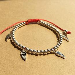 $enCountryForm.capitalKeyWord Australia - Lucky Wings Bracelet 925 Sterling Silver Beads Gift For Women Handmade Charm Bangle Jewelry J190707
