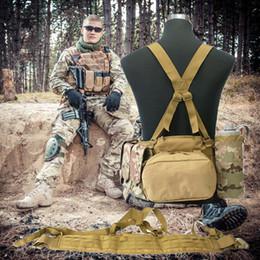 Tactical Vest Accessories UK - Special forces belt vest Hunting Shooting Wargame Molle Durable Adjustable Tactical Belt Suspenders Men Clothing Accessories Outdoor Sport