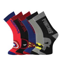 $enCountryForm.capitalKeyWord NZ - Cartoon Superman Clothing Cotton Socks Men Batman Spider-Man Soccer Basketball Socks Autumn Winter Socks