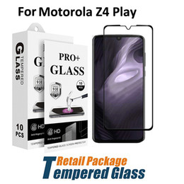 Screen protector film Stock online shopping - Tempered Glass For Motorola Z4 Play Force Full Cover Screen Protector Film With Paper Package Stock