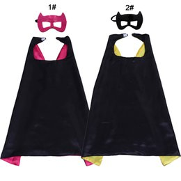 $enCountryForm.capitalKeyWord NZ - 27inch double layer superhero cape and mask for kids children Super Hero Halloween cosplay costumes birthday party supplies