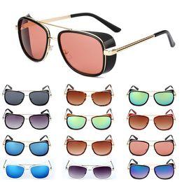6e4a130a8b397 Designer Male Steampunk Sunglasses Tony Stark Iron Man Matsuda Sunglasses  Retro Vintage Eyewear Steampunk Sun Glasses UV400 Oculos De Sol