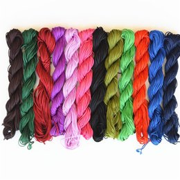 Diy Bracelets Thread Australia - 25M   Pcs 1mm Mulit- Colors Handmade Rope Wire  Cord  String  Thread for DIY Bracelets Jewelry Accessories